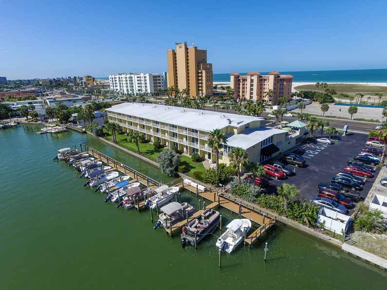 Treasure Bay Resort and Marina drone view