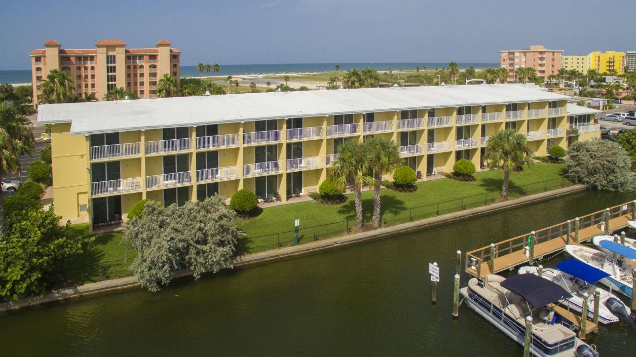 Ariel view of Treasure Bay Resort and Marina