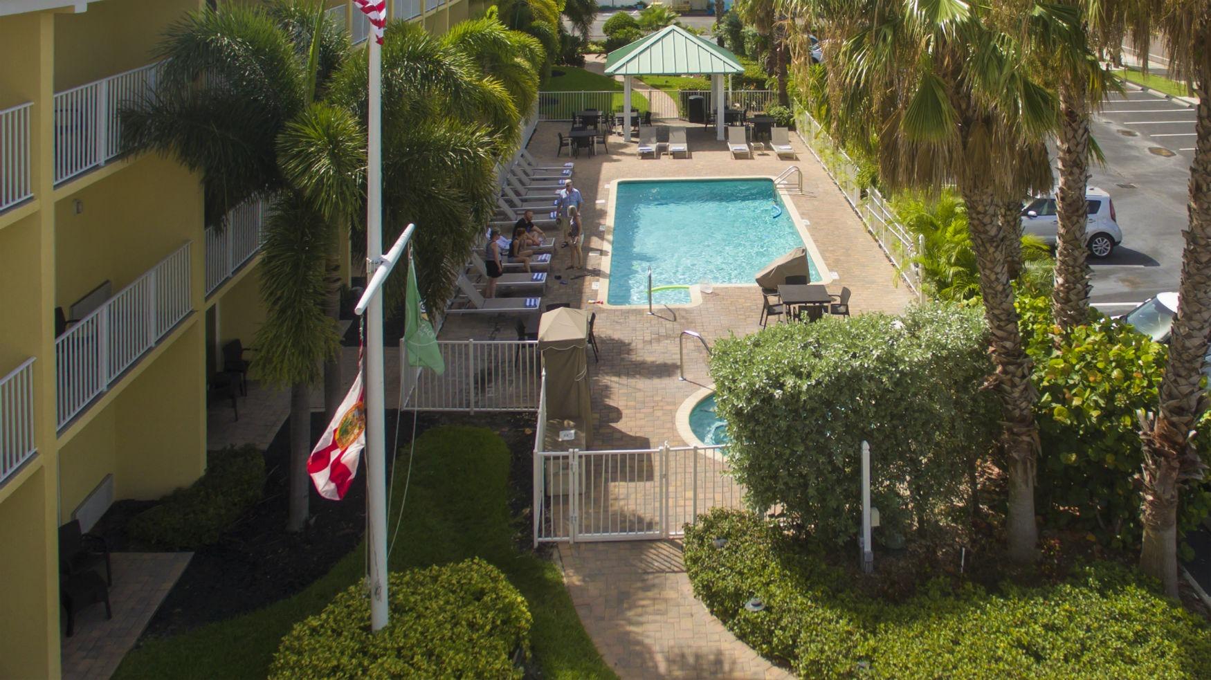 Treasure Bay Resort and Marina - Ariel view of swimming pool