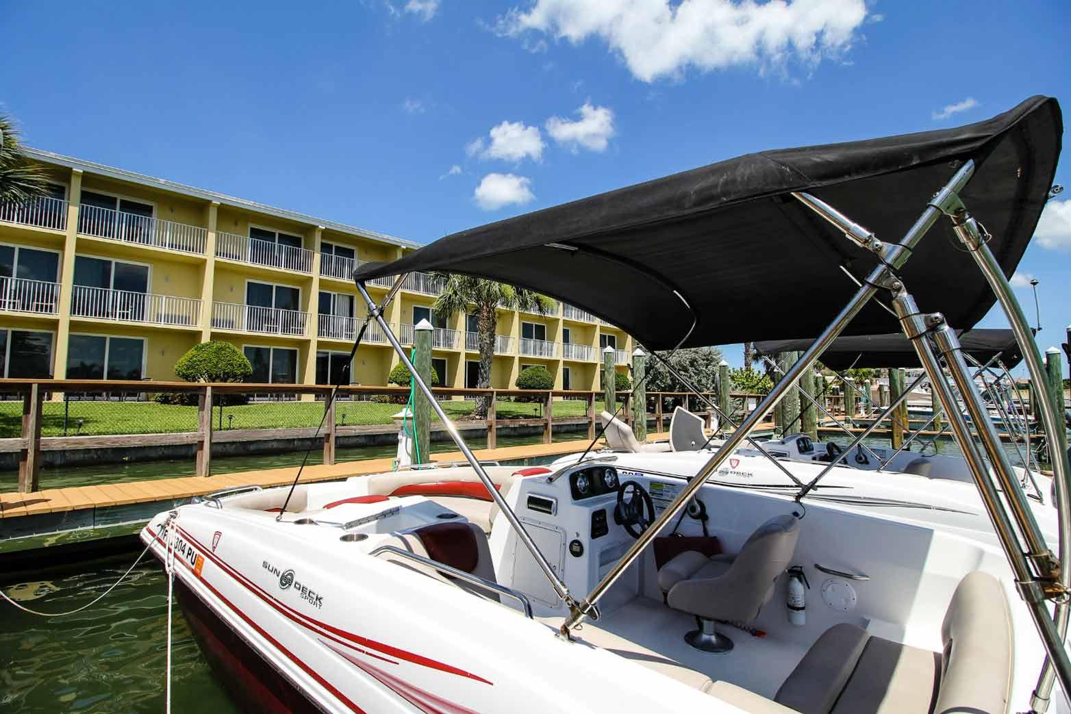 Treasure Bay Resort and Marina view form a boat