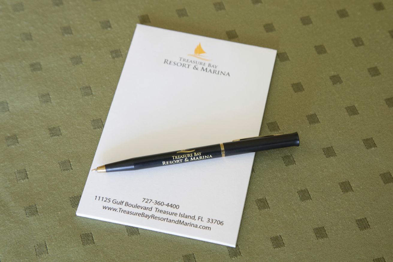 Hotel notepad