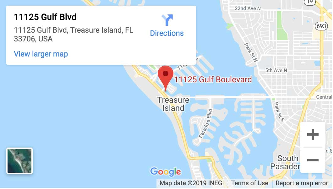 Google Map of Treasure Island FL